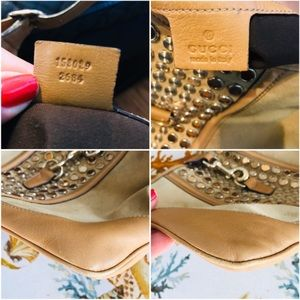 Gucci Bags - GUCCI RARE Jackie O Studded Suede Shoulder Bag